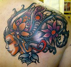 Artwork by Brandon Boyd. I like the placement, it might look cool as a thigh piece too.