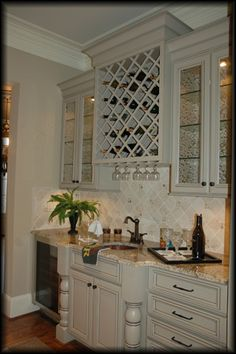 Wet bar: wine fridge and ice machine a must for entertaining! COFFEE ...