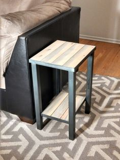 Metal Framed, Industrial Style End Table - Hand Welded Furniture Risers, Welded Furniture, Iron Furniture, Industrial Furniture, Luxury Furniture, Industrial Style, Furniture Design, Furniture Stores, Diy End Tables