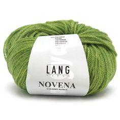 Lang Yarns Novena -      Naalddikte: 4,5-5        Lengte: 110 m     Trui maat 38-40: ca. 7 bol(len      Samenstelling: 50% Merino , 30% Baby Alpaca , 20% Nylon