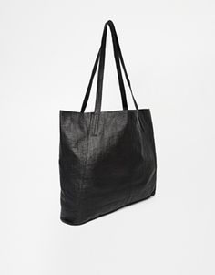 ASOS Embossed Leather Floppy Shopper Bag £35