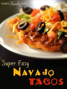We had Navajo Tacos ALL THE TIME growing up and still make them often for our own families. They are a delicious comfort food that the whole family loves!