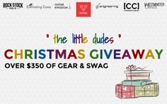 "You could win over $350 of gear & swag! Simply submit your name and email for a chance to win BIG in the ""The Little Dudes"" Christmas Giveaway.   FOXPEDAL, Rock Stock Pedals, Westminster Effects, DS Guitar Engineering, Everlasting Cases, Guitar Kingdom, Remnant Goods, and COVENANTCABLES  have come together to giveaway an amazing assortment of gear to one lucky winner on Christmas day."