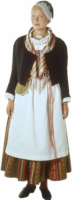 Folk Costume, Costumes, Family Tree For Kids, Historical Clothing, Traditional Dresses, Scandinavian, Beautiful People, Fashion Dresses, How To Wear