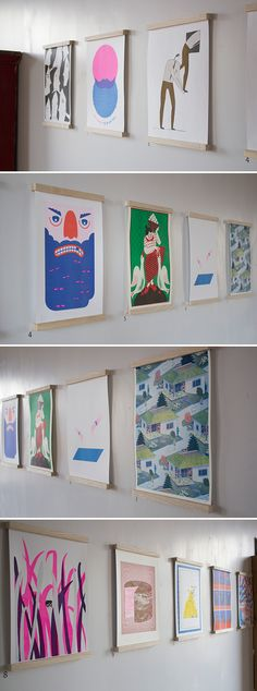 Here are all the prints from our current Risograph exhibition at Northern Monk, Leeds. We're so chuffed to have such an ace selection of illustrated works on show and for sale over on our shop! Exhibition Display, Exhibition Space, Poster Display, Art Graphique, Grafik Design, Screen Printing, Book Art, Illustration Art, Scene
