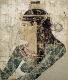Nephthys - Greco-Roman era painted image on a linen and tempera shroud - c. 300-200 B.C. - Metropolitan Museum of Art