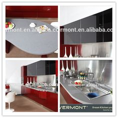 2017 luxury red colorful tempered glass modern kitchen cabinet VT-PK-059, View kitchen cabinet, Vermont Product Details from Hangzhou Vermont Deluxe Materials Co., Ltd. on Alibaba.com
