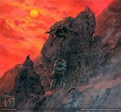 Endgame on the Mountain   Ted Nasmith - Tolkien Illustrator - Renderer…