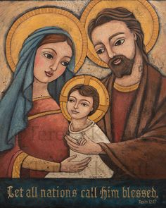 Holy Family 8x10 print by Teresa Kogut via Etsy.