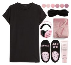 """""""Black and Pink"""" by zalvaalf ❤ liked on Polyvore featuring Balmain, PJ Couture, Christian Dior, UGG, Deborah Lippmann, Object Collectors Item, contest and BlackPink"""
