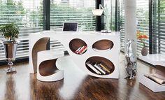 vemeer, white, desk, modern, furiture