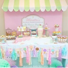 Pink and mint party