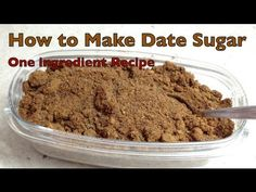 Using only one ingredient High in Fibre all natural great tasting gluten free Date Sugar. Perfect for sprinkling on cakes cerealyoghurt rice dishes & i. Fast Dessert Recipes, Healthy Desserts, Healthy Cooking, Date Sugar Recipes, Caffeine And Alcohol, Daniel Fast Recipes, Caramel Recipes, Diabetic Friendly, Some Recipe