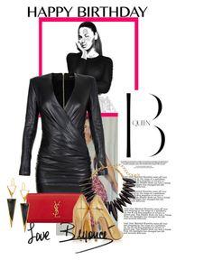 """Hail The Queen B"" by alwaysroyal on Polyvore featuring Nicki Minaj, Balmain, Yves Saint Laurent, Oscar de la Renta, KORS Michael Kors and Lana"