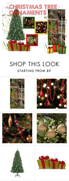 """""""Christmas Tree Ornaments"""" by garadina on Polyvore featuring interior, interiors, interior design, home, home decor, interior decorating, Improvements, Philips, Christmas and ornaments"""