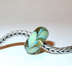 Luccicare Lampwork Bead - Antique Twig -  Lined with Sterling Silver by Luccicare on Etsy