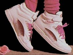 LA Gears...with the scrunchie socks...we should probably leave these back in the day...