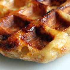 """<p>This waffle is different from our traditional American Waffles. The Belgian Sugar (or """"Liege"""" Waffle is a popular street-food across Europe. Served warm, plain or ..."""