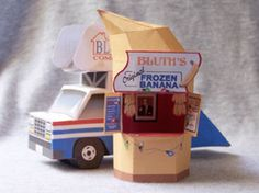 Banana Stand and Stair Car papercrafts