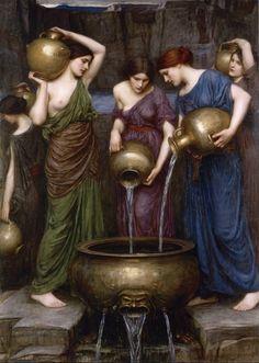 "John William Waterhouse (1849-1917)""Danaïdes"" (1903)Oil on canvasPre-RaphaeliteCurrently in a private collection"