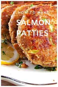This Salmon Patty Recipe makes the Best Salmon Patties. It's a simple recipe that uses canned salmon And the salmon patties are breaded and fried in butter which makes them above delicious. Canned salmon seasoned and made into patties and fried in butter Fish Dishes, Seafood Dishes, Seafood Recipes, Cooking Recipes, Seafood Pasta, Main Dishes, Seafood Platter, Kitchen Recipes, Beef Recipes