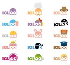 Illustrative Logo and Identity in various applications for 'IGLOO', a New Zealand based digital television station.