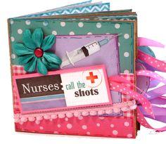 Nurse Scrapbook  Photo Album   Paper Bag Album by apicketfencelife