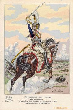 Ufficiale del 6° Rgt Corazzieri in gran tenuta. Francia, 1807