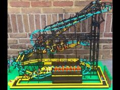 Working Inverted LEGO Roller Coaster! COOL RIDE