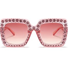 49c6a50eb6  Pink Luxury Bling Crystal Women Sunglasses Oversized Square Gradient Shades