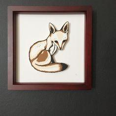 Little fox papercut art by Emily Brown
