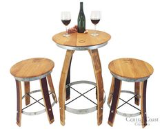 """Awesome """"pub set kitchen dining rooms"""" information is available on our web pages. Patio Bar Set, Pub Table Sets, Crate Table, Wine Barrel Furniture, Rustic Furniture, Western Furniture, Steel Barrel, Pub Set, Bourbon Barrel"""