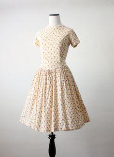 cotton floral 1950's dress.