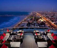 Widok na Dubaj z Uptown Bar Jumeirah Beach Hotel 5* Premium #Luksusowe #wakacje z www.BonVoyage.pl