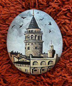 #taşboyama #stonepainting #galatatower #galatakulesi #galata