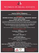 "Women in Real Estate Special Interest Group  Published in: ICSC's Chicago Deal Making – October 6, 2011    ICSC and Faith Hope Consolo, Chairman of Prudential Douglas Elliman's Retail Group Present: ""Women in Real Estate Special Interest Group"". When: Thursday, October 6, 2011 12:00 P.M. to 2:00"