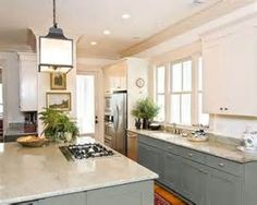 ... Can You Paint Kitchen Cabinets Two Colors in a Small Kitchen