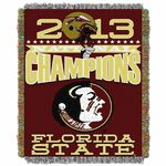 Celebrate the exciting conclusion to the BCS National Championship, won by the Florida State Seminoles!  This 48x60 throw blanket is a comfortable and functional way for you to show your team spirit, while staying cozy.  Great for decorating and keeping you warm, bring the 2013 BCS champs into your home today!Specifications:Manufactured By: The Northwest Co. &reg