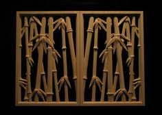 Carved bamboo panels - mirrored
