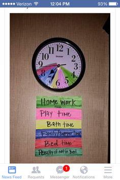 Bedtime clock