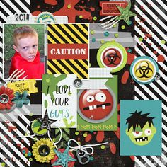 Layout using {Zombified} Digital Scrapbook Kit by Dream Big Designs http://scraporchard.com/market/Zombified-Full-Digital-Kits-Scrapbook.html