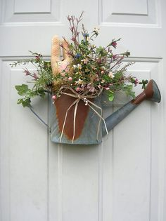 CountrySpring Summer Easter  Rustic Watering by sandys4899florals, $36.99