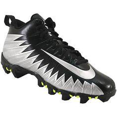 Nike Menace Shark Hi Football Cleats - Mens Black Silver Rogan's Shoes, Mens Football Cleats, Black Silver, Shark, Snug, Nike, Leather, Sharks