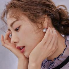 """Nana shows us her """"must needs"""" (lip creme and virgin olive-oil) for her skin in the February issue of InStyle, we think she looks beautiful! Korean Beauty, Asian Beauty, Eyeliner Tape, Nana Afterschool, Im Jin Ah Nana, Up Styles, Hair Styles, Orange Caramel, Most Beautiful Faces"""