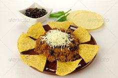 Nachos and chili con carne - Photo for sale from $1.00
