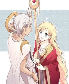 Sphintus and Titus Alexius / Magi Sad Anime, Anime Love, Titus Alexius, Magi Kingdom Of Magic, Magi Adventures Of Sinbad, Aladdin Magi, Anime Magi, Natsume Yuujinchou, Another Anime