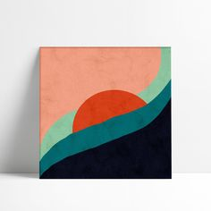 Simple Canvas Paintings, Easy Canvas Art, Small Canvas Art, Mini Canvas Art, Diy Canvas, Easy Paintings, Minimalist Painting, Minimalist Art, Art Sur Toile