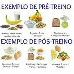 Quais alimentos devo ingerir no pré e nos pós treino? #Dieta #alimentação #pretreino #postreino Para ter mais dicas como essa acesse