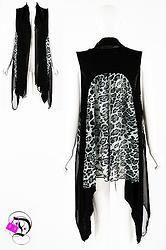 Black Leopard Sleeveless Cardigan $41.99 Divalicious