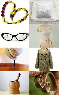 To Grandmother's House We Go: A collection of grandma-chic items for the holidays and beyond. --Pinned with TreasuryPin.com